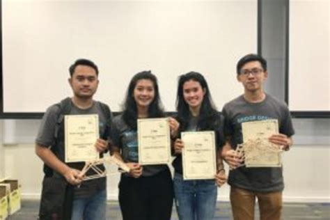 bridge design competition ntu ui raih dua prestasi di ajang bridge design competition