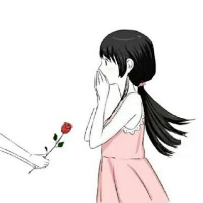 anime couple pp 情侣头像一左一右唯美卡通 情侣头像卡通呆萌一对 武林网