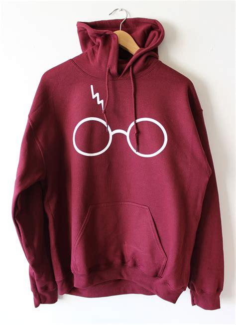 Hoodie Harry Potter Design Animasi T Shirt Sweater Hoodies Pria Keren harry potter hoodie sweatshirt lightning glasses sweater high