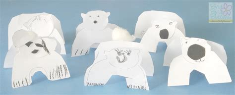 polar crafts for arctic seal crafts preschoolers