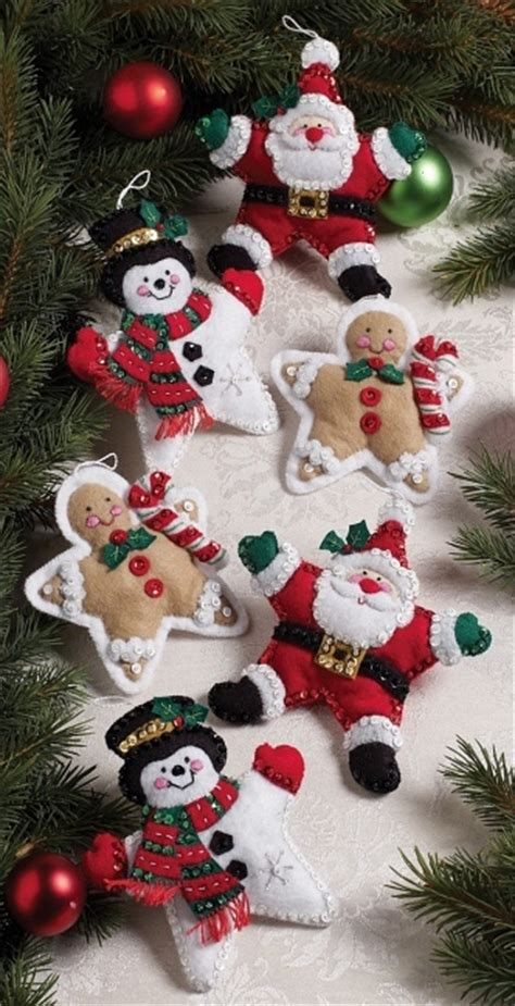 felt christmas projects weekend kits crafts handmade felt ornament kits