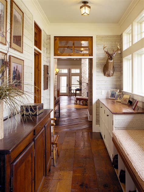 Rustic Wood Kitchen - choose durable mudroom materials hgtv