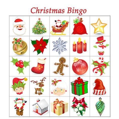 christmas bingo printable christmas tree farm