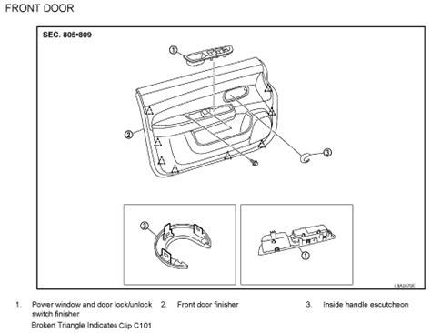 2009 nissan versa interior door handle nissan versa door diagram nissan free engine image for