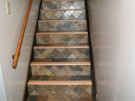 Tiled Stair Risers Staircase Ideas Remodel Pinterest Tiles For Staircase