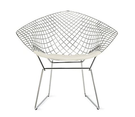 Bertoia Lounge Chair by Bertoia Two Tone Lounge Chair With Seat Pad
