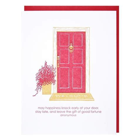 Front Door New Home Card   New Home Congratulations