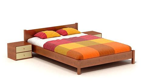 modern low bed modern wooden low bed 3d model cgtrader com