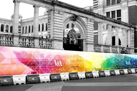 hoarding design on behance v a museum construction hoarding adobe week on behance