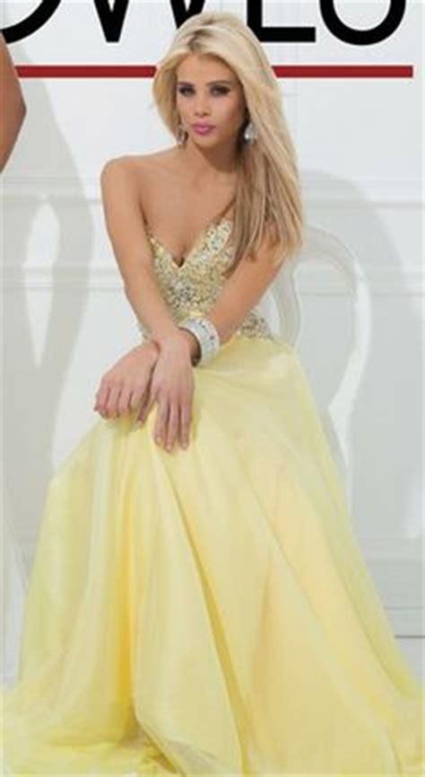 Neck Strapless Kb 005 yellow prom dresses on yellow prom dresses tony bowls and prom dresses