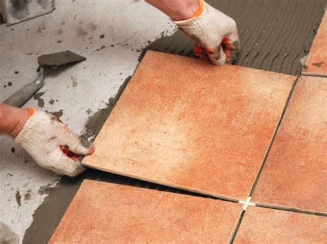 prep  installing floor tiles diy