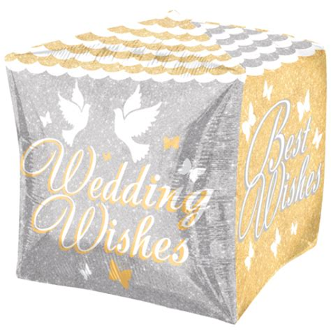 Wedding Wishes Worksop by 15 Quot Cubez Shimmering Wedding Wishes