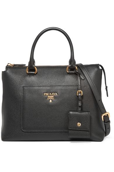 Prada Pebbled Leather Weekend Bag by Prada Daino Zip Pebbled Leather Tote Bag Black Modesens