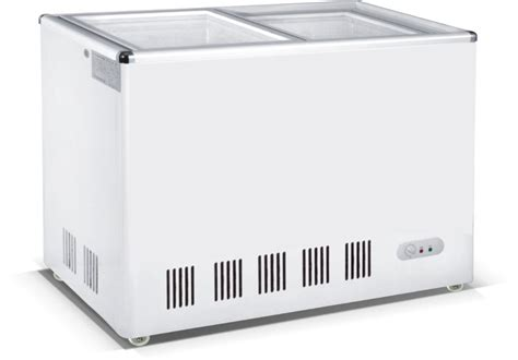 Freezer Aucma single temp sliding glass door chest freezer fridge buy glass door refrigerator freezer