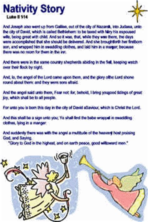Printable Children S Nativity Story | nativity story