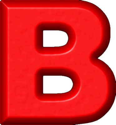the b presentation alphabets red refrigerator magnet b