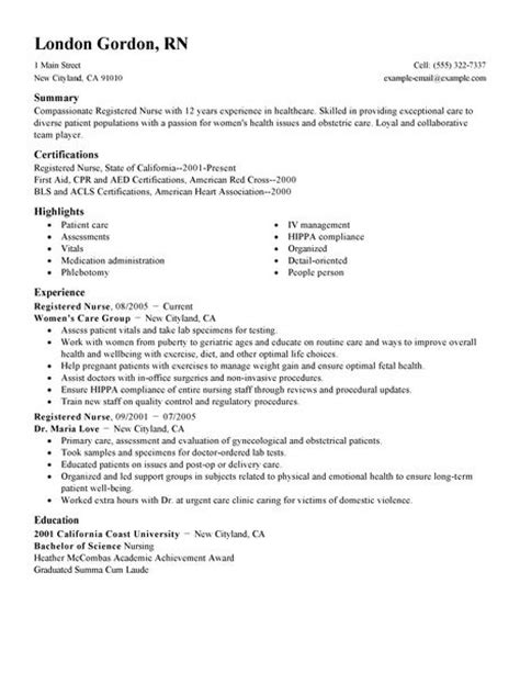 nursing resume exles 2017 svoboda2