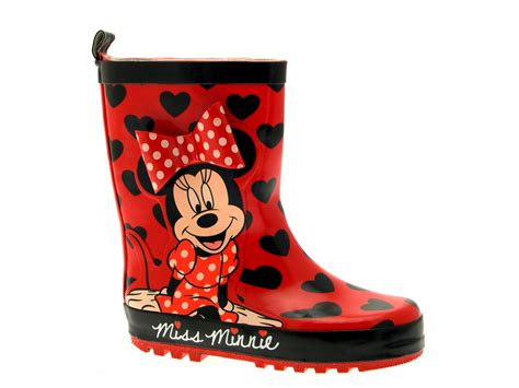 minnie mouse boots disney minnie mouse rubber snow boots 3d wellies