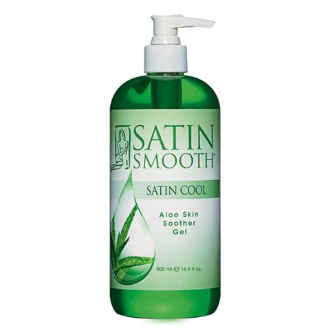 Wax Before Or After Shower by Satin Smooth 174 Satin Cool 174 Aloe Vera Skin Soother 16 Oz