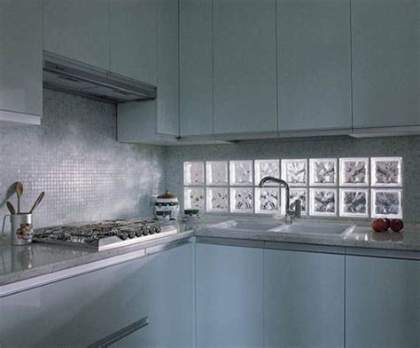 glas block backsplash a glass block window parallel to the counter gives