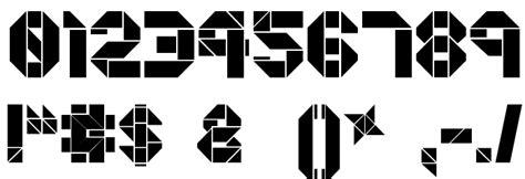 Font Origami - origami font