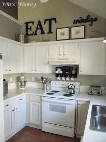 Decorating Ideas For And Black Kitchen 25 Best Ideas About Above Cabinet Decor On