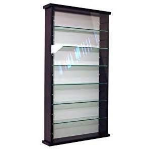 Amazon Display Curio Cabinet Exhibit Solid Wood 6 Shelf Glass Wall Display Cabinet