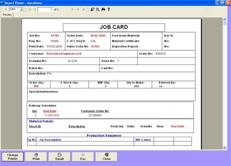 job card cost estimate template excel template124