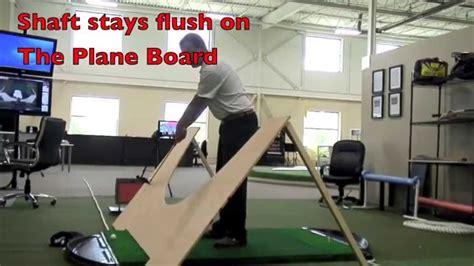 golf swing plane board plane board 1 youtube