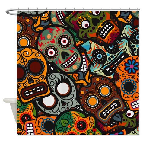 Of The Dead Shower day of the dead shower curtain by highaltitudes3