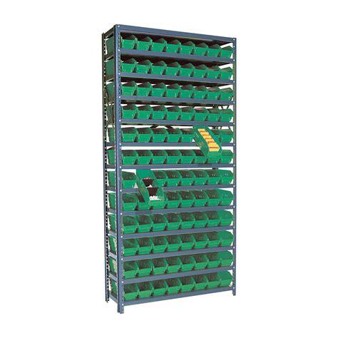 Bin Shelf quantum storage 96 bin shelf unit 12in x 36in x 75in
