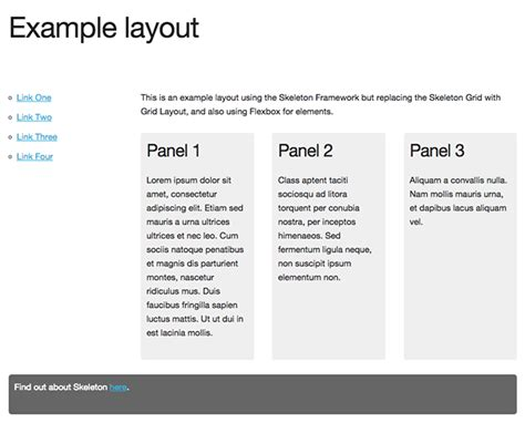 layout with flexbox page layout exles