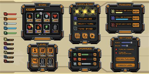 unity3d layout elements sci fi mobile game google search gui sci fi