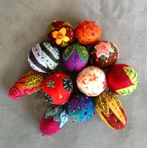 felted wool ornaments for the holidays judy coates perez