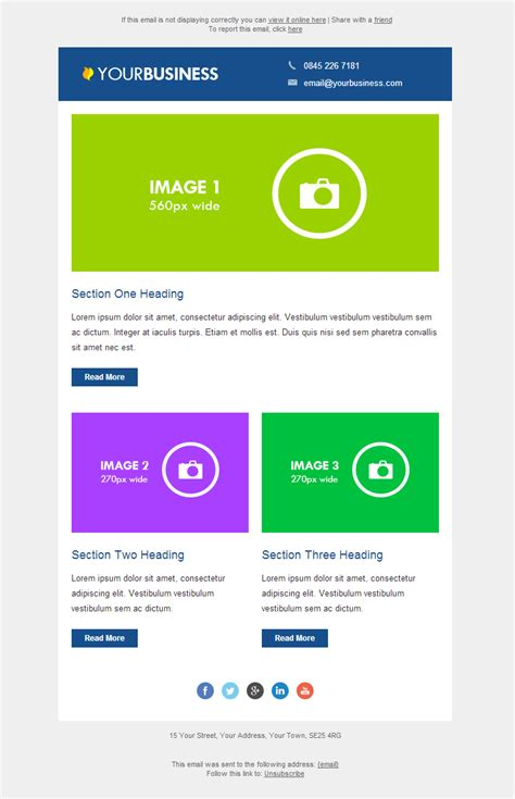 responsive design email templates responsive email templates email marketing data