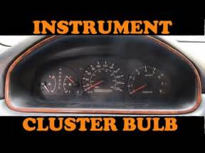 Toyota Instrument Panel Lights How To Replace Dashboard Light Bulbs Toyota Camry Doovi