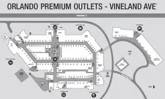 Orlando Premium Outlet Map by Orlando Premium Outlet Vineland Ave