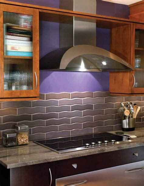 purple kitchen backsplash purple kitchen w tile home decorating pinterest
