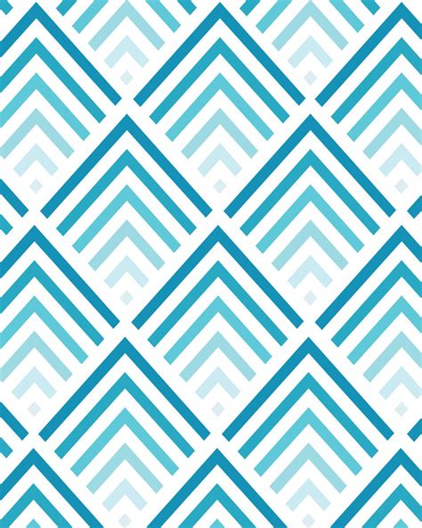 pattern cute blue shades of blue chevron pattern 8x10 inch art print 17
