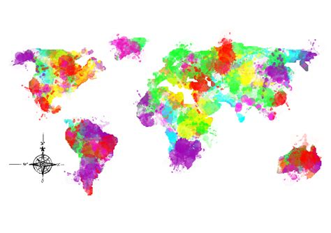colorful world map colourful world map by designmarketshop zippi