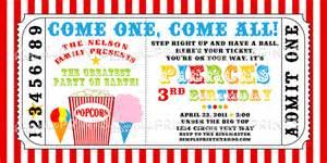 carnival ticket printable invite dimple prints shop
