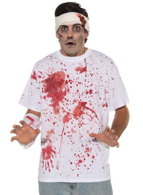 bloody t shirt costume blood splattered s