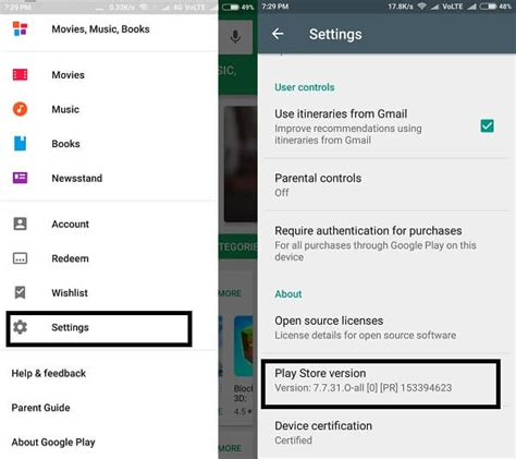 Play Store Version How To Update Or Play Store On Any Android