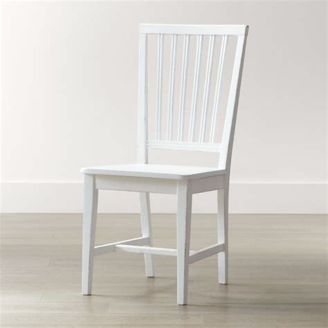 White Chairs by White Wood Dining Chair Crate And Barrel