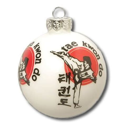 taekwondo christmas tree ornament martial arts christmas