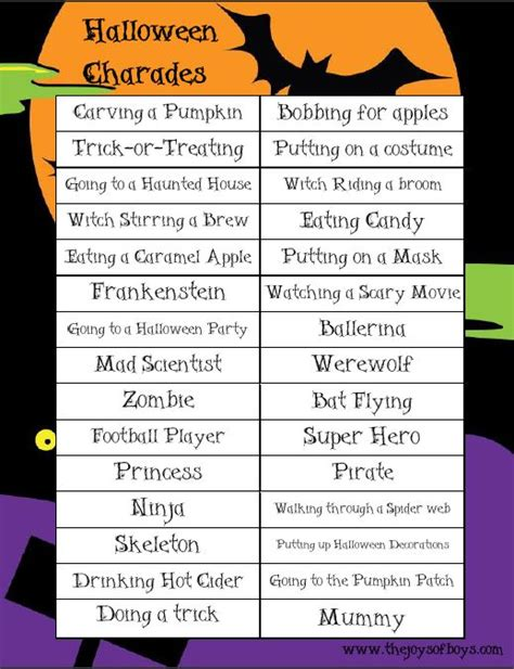 printable christmas charades halloween charades free printable halloween game game