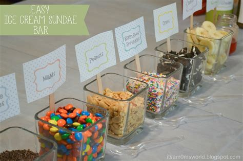 sundae bar topping ideas it s a mom s world ice cream sundae bar printables