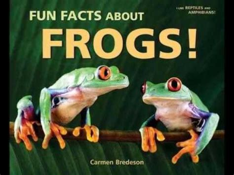 frog picture books facts about frogs by bredeson mpl book