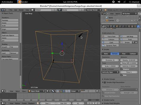 Blender Es tutoriales blender fuego en blender