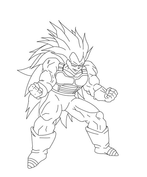 dragon ball z coloring pages vegeta super saiyan